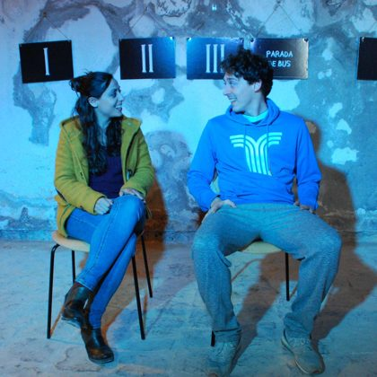 Amb Josep de Font al Festival Píndoles 2019 (Castell de Montjuïc)